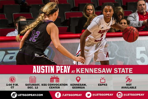 Austin Peay Women's Basketball back in action Saturday against Kennesaw State. (APSU Sports Information)