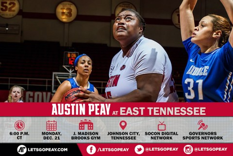 Austin Peay Women's Basketball take on East Tennessee, Monday. (APSU Sports Information)