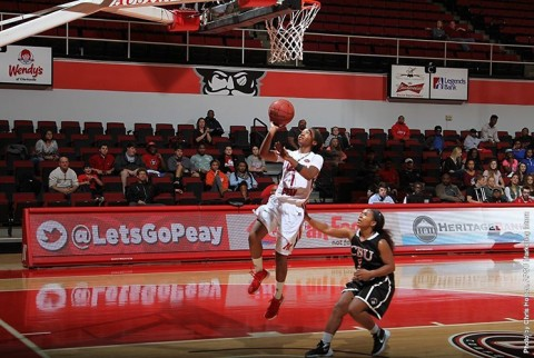 Austin Peay Women's Basketball loses 80-76 to East Tennessee Monday night. (APSU Sports Information)