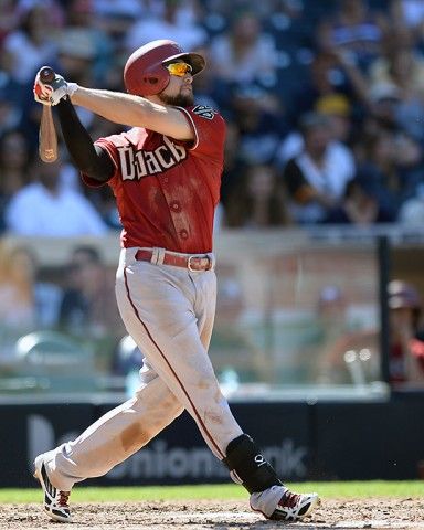 Arizona Diamondbacks right fielder Ender Inciarte (5) hits a solo home run during the fifth inning against the San Diego Padres at Petco Park.   (Jake Roth-USA TODAY Sports)