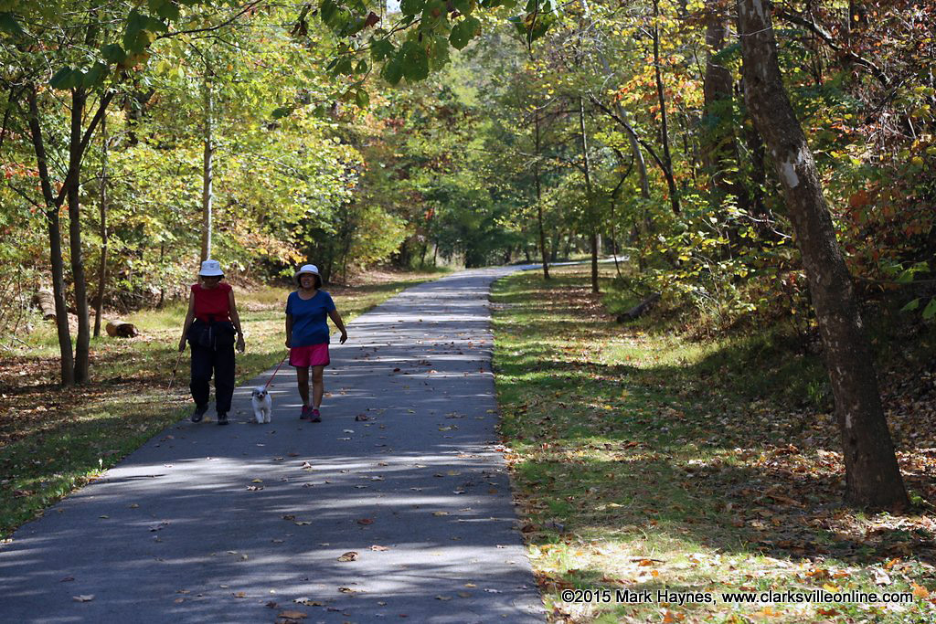 Clarksville Greenway at Mary's Oak trailhead.