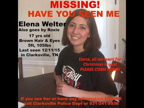 Clarksville Police request Public Assistance locating Missing Child Elena Welter