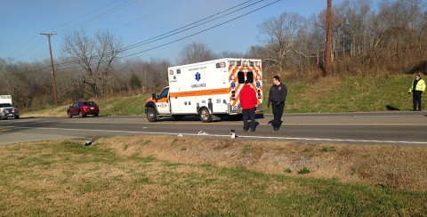 Pedestrian stuck on Highway 41A South Bypass Saturday morning. (CPD)