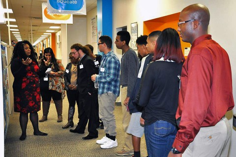 LEAP Career Readiness Program participants get a tour of Convergys.