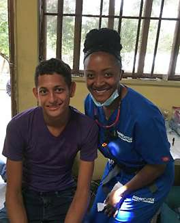 Dr. April Buckins in Honduras.