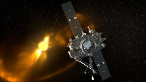 NASA lost communications with it's STEREO-B Spacecraft on October 1st, 2014 as it began to orbit the other side of the sun. It has now emerged from behind the sun and NASA mission operations hopes that communications cab be reestablish with the spacecraft. (NASA)