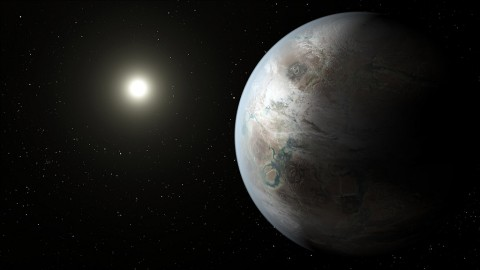 The glittering city lights of Coruscant, the Star Wars core world, might have evolved on an older, near Earth-size planet like Kepler-452b. This real-life Earth cousin exists in a system 1.5 billion years older than Earth, giving any theoretical life plenty of time to develop an advanced technological civilization. (NASA/Ames/JPL-Caltech)