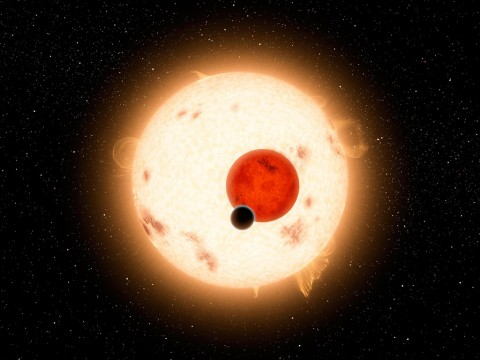 Years before science discovered planets orbiting two stars, Star Wars showed Luke Skywalker facing a twin sunset on his home world Tatooine. Now NASA telescopes have found multiple planets orbiting binary star systems, including Kepler-16b. (NASA/JPL-Caltech)