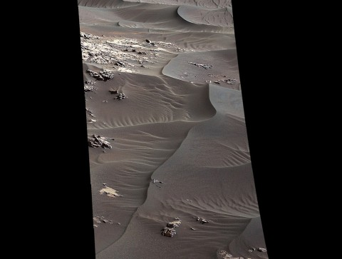 "The rippled surface of the first Martian sand dune ever studied up close fills this Nov. 27, 2015, view of ""High Dune"" from the Mast Camera on NASA's Curiosity rover. (NASA/JPL-Caltech/MSSS)"