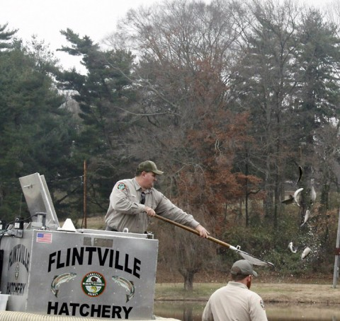 TWRA's Winter Trout Stocking program.