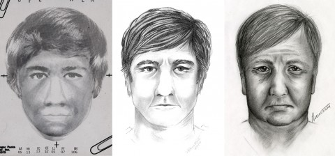 Composite images of the suspect in the 1980 Stewart County Double Homicide Investigation.