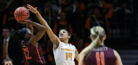 No. 8/8 Tennessee Lady Vols had its 44-game home unbeaten streak against unranked non-conference opponents snapped Sunday with loss to Virginia Tech. (UT Athletics Department)