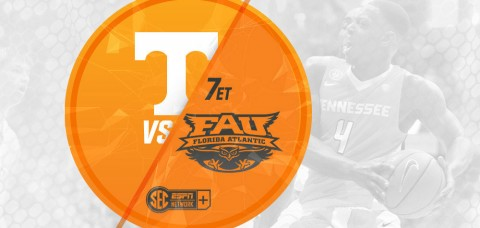 Tennessee Men's Basketball plays Florida Atlantic at home Wednesday night. (UT Athletics Department)
