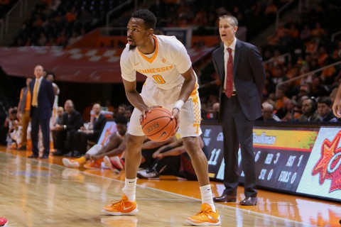 Tennessee Volunteers guard Kevin Punter (0) led the Volunteers with 24 points against Florida Atlantic Wednesday night. (Randy Sartin-USA TODAY Sports)