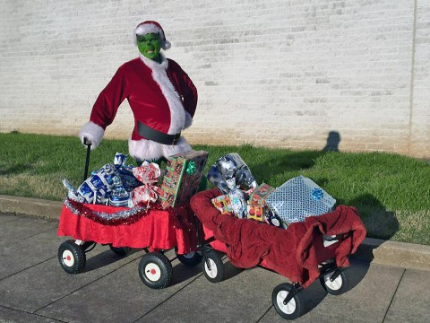 Grinch caught by Montgomery County Sheriff's Deputies with stolen presents.