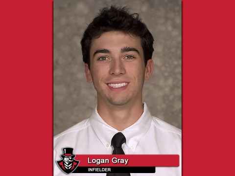 APSU Baseball's Logan Gray