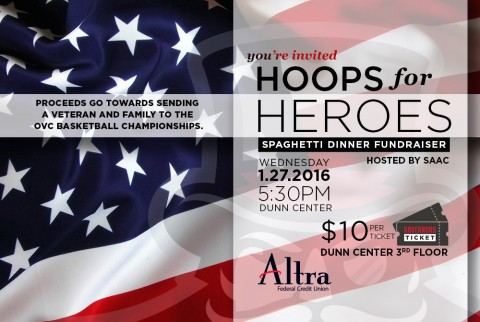 Austin Peay Hoops for Heroes Spaghetti Dinner Fundraiser. (APSU Sports Information)