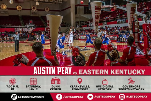 Austin Peay Men's Basketball kicks off OVC Season taking on Eastern Kentucky Saturday at the Dunn Center. (APSU Sports Information)