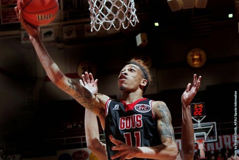 Austin Peay Men's Basketball fall 79-70 to Eastern Kentucky at the Dunn Center Saturday night. (APSU Sports Information)