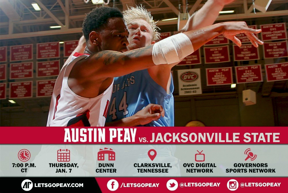 Austin Peay Men's Basketball face Jacksonville State at home Wednesday. (APSU Sports Information)