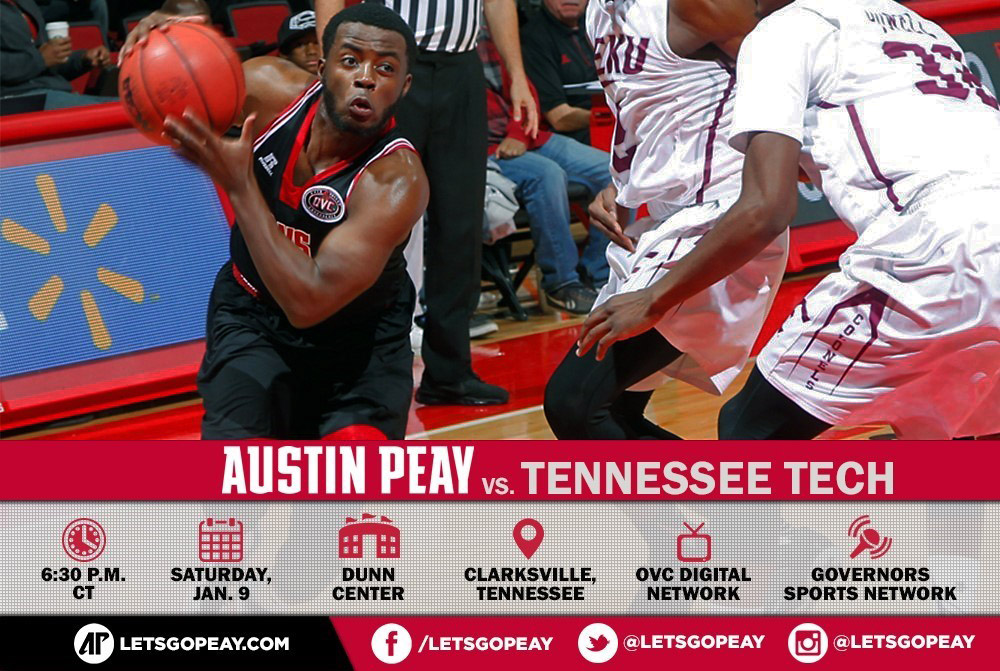 Austin Peay Men's Basketball plays Tennessee Tech at the Dunn Center Saturday. (APSU Sports Information)