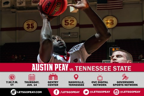Austin Peay Men's Basketball in OVC Action Wednesday at Tennessee State. (APSU Sports Information)
