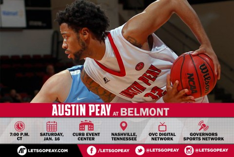 Austin Peay Men's Basketball plays Belmont Bruins Saturday night in Nashville. (APSU Sports Information)