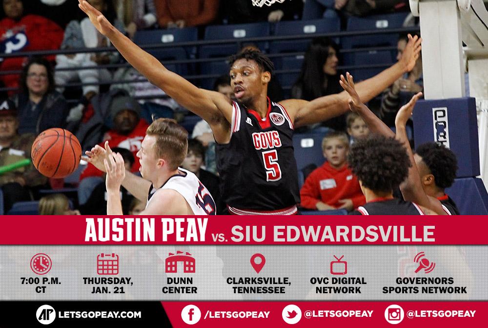 Austin Peay Men's Basketball plays SIU Edwardsville Thursday at the Dunn Center. (APSU Sports Information)