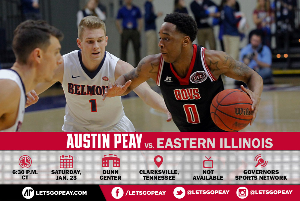 Austin Peay Men's Basketball takes on Eastern Illinois at the Dunn Center, Saturday. (APSU Sports Information)