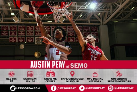 Austin Peay Men's Basketball hits the road Saturday to face SEMO. (APSU Sports Information)