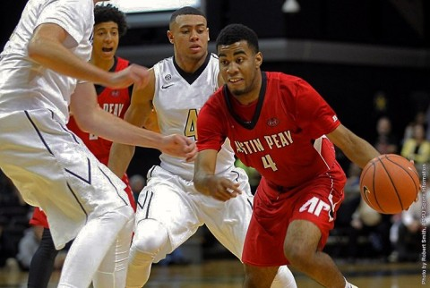 Austin Peay's Josh Robinson scores 30 points in OVC road win over Southeat Missouri Redhawks Saturday. (APSU Sports Information)
