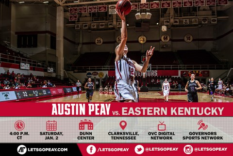Austin Peay Women's Basketball hosts Eastern Kentucky Colonels at the Dunn Center to begin OVC Season. (APSU Sports Information)