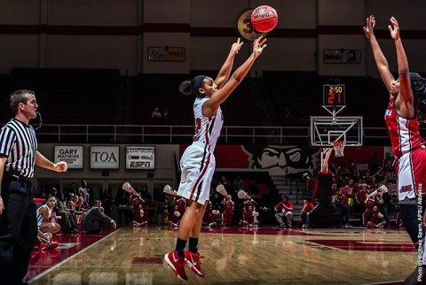Austin Peay Women's Basketball get 61-59 win over Jacksonville State at the Dunn Center Thursday. (APSU Sports Information)