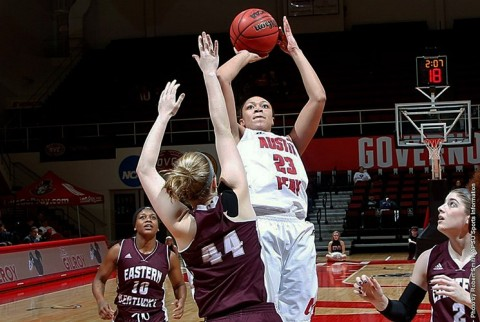 Austin Peay Women's Basketball easily handle Eastern Kentucky Saturday night at the Dunn Center. (APSU Sports Information)