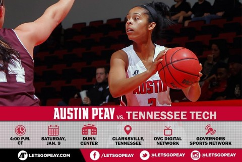 Austin Peay Women's Basketball plays Tennessee Tech at the Dunn Center, Saturday. (APSU Sports Information)