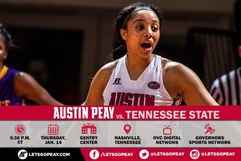 Austin Peay Women's Basketball play Tennessee State in Nashville Wednesday. (APSU Sports Information)