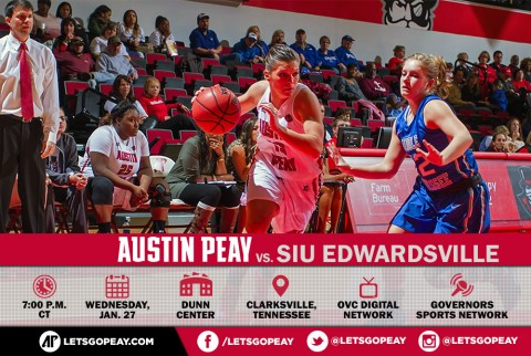 Austin Peay Women's Basketball hosts SIU Edwardsville. (APSU Sports Information)