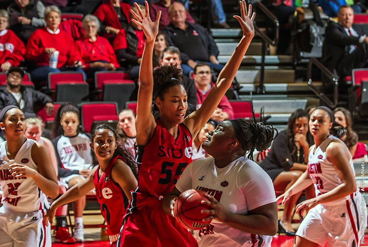 Austin Peay Women's Basketball loses 72-61 to SIUE Wednesday night at the Dunn Center. (APSU Sports Information)