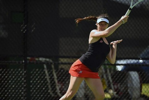 Austin Peay Women's Tennis beats Evansville Saturday at home 6-1. (APSU Sports Information)