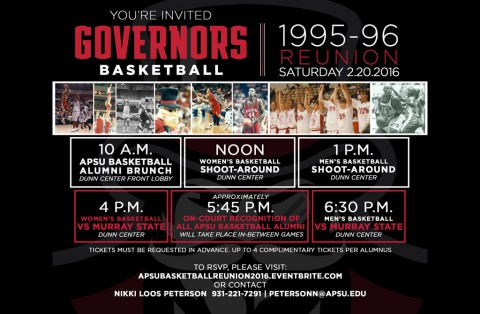 Austin Peay 1995-96 Championship Teams Basketball Reunion. (APSU Sports Information)