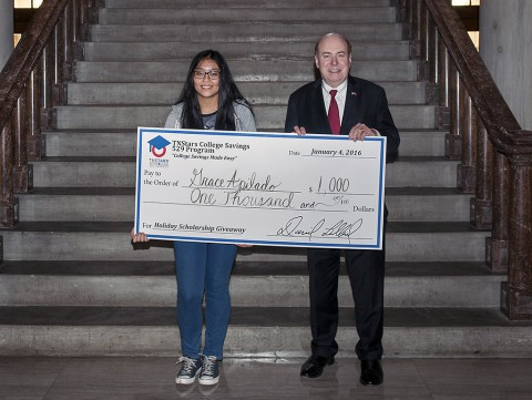 Grace Apilado of Clarksville awarded $1,000 TNStars scholarship. She Wants to be either a Doctor or Fine Arts major. (Dawn Majors,State of Tennessee)