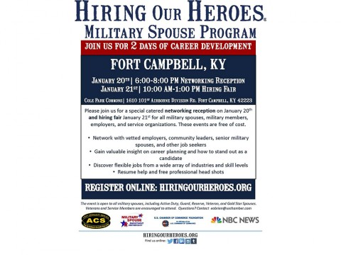 Fort Campbell Army Community Service to hold Hiring Our Heros January 20th and 21st
