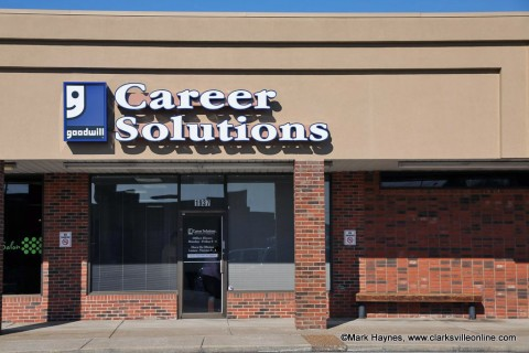 The Goodwill Career Solutions center located on Madison Street in Clarksville.