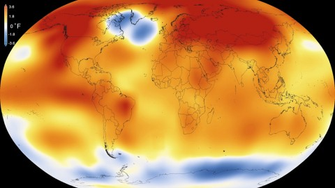 2015 was the warmest year since modern record-keeping began in 1880, according to a new analysis by NASA's Goddard Institute for Space Studies. The record-breaking year continues a long-term warming trend — 15 of the 16 warmest years on record have now occurred since 2001. (Scientific Visualization Studio/Goddard Space Flight Center)