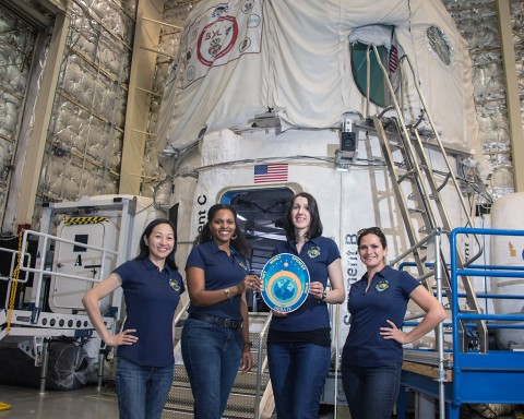 The crew members that will live 30 days in the Human Exploration Research Analog (HERA). (Bill Stafford/NASA)