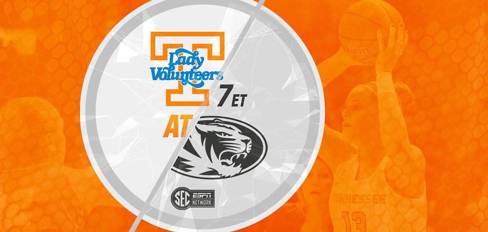 Tennessee Women's Basketball travel to Missouri Tigers Monday night. (UT Athletics Department)