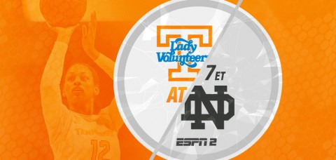 #13/15 Tennessee Lady Vols meet #3/3 Notre Dame for the 26th Time Monday. (UT Athletics Department)
