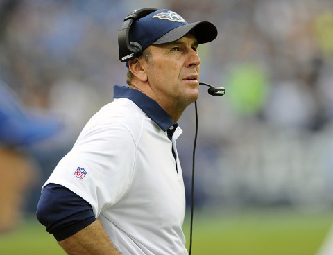 Tennessee Titans head Mike Mularkeyis searching for his type of players. (Christopher Hanewinckel-USA TODAY Sports)