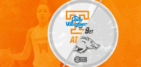 The #13/15 UT Lady Vols (11-4, 2-1 SEC) travel to Arkansas (6-10, 1-2 SEC) for a Thursday night game. Tipoff is slated for 8:05pm CT/9:05pm ET, and the game will be broadcast on the SEC Network and available online via WatchESPN. (UT Athletics Department)