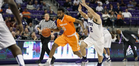 Tennessee Men's Basketball struggled mightily in the second half of their 75-63 loss to the TCU Horned Frogs Saturday afternoon. (UT Athletics Department)
